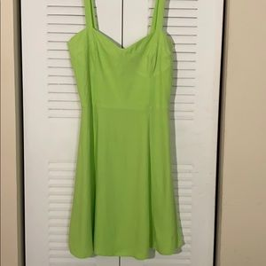 NWT ZARA MINI DRESS LIGHT GREEN SIZE 28